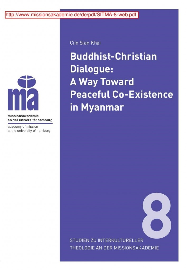 Buddhist-Christian Dialogue: A Way towards Peaceful Coexistence in Myanmar