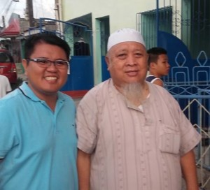 The author, Elbert Balbastro, with the imam of the local mosque in Sigayan, Lanao del Norte, Philippines