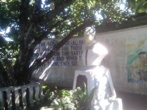 Monument commemorating the life of Fr Rufus Halley in Malabang, Lanao del Sur