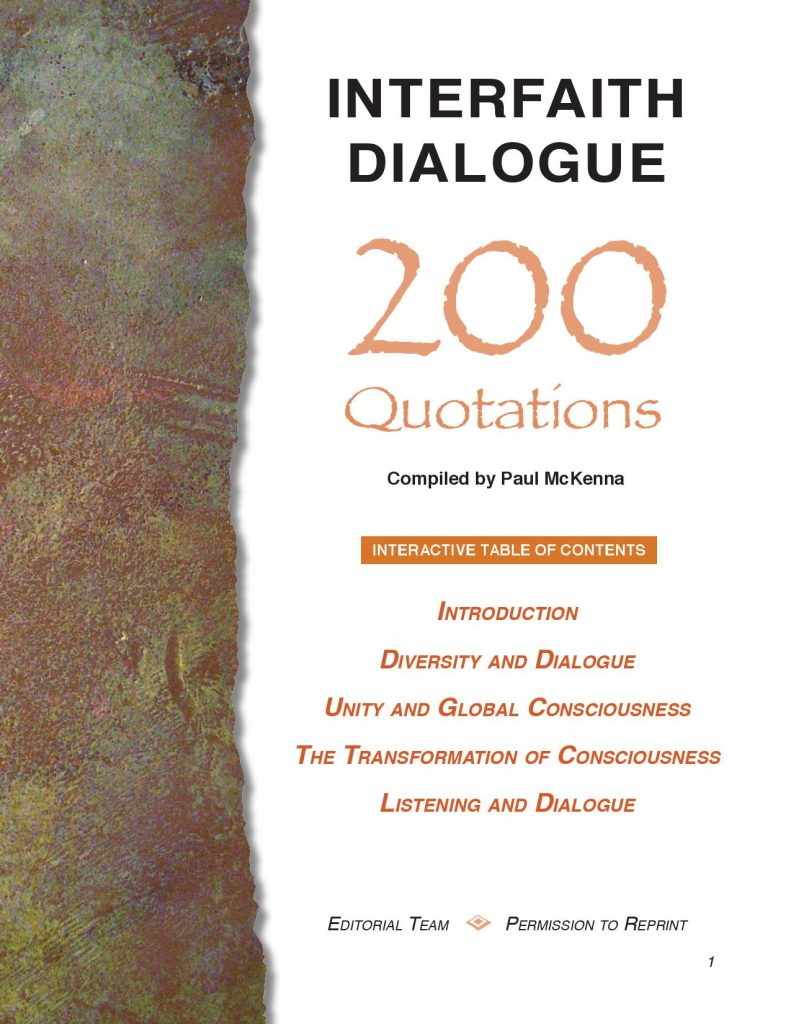 Interfaith Dialogue: 200 Quotations